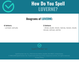 Correct spelling for Luverne