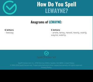Correct spelling for Lewayne