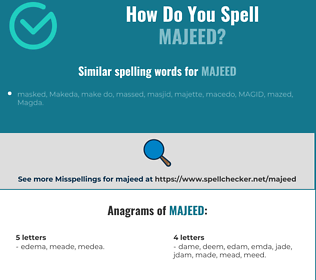Correct spelling for Majeed