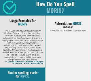 Correct spelling for Moris