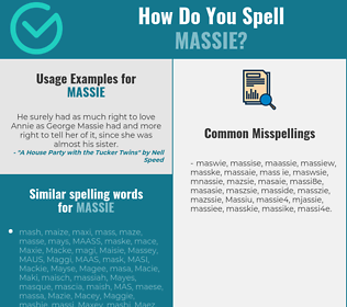 Correct spelling for Massie