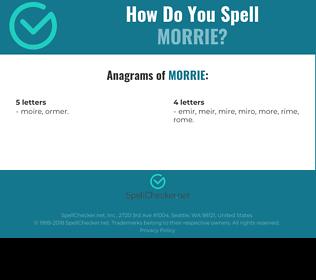 Correct spelling for Morrie