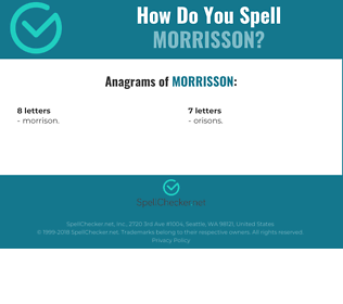 Correct spelling for Morrisson