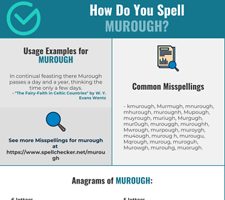 Correct spelling for Murough
