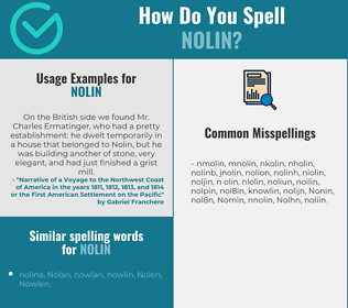 Correct spelling for Nolin