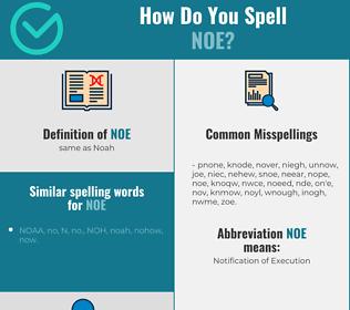 Correct spelling for Noe