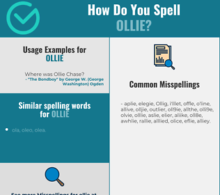 Correct spelling for Ollie
