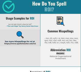 Correct spelling for Roi