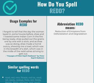 Correct spelling for Redd
