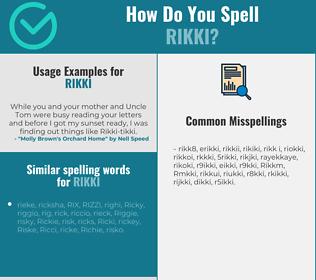 Correct spelling for Rikki