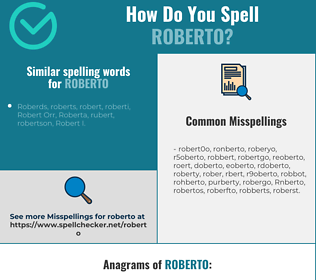 Correct spelling for Roberto