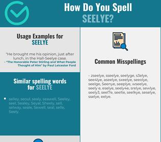 Correct spelling for Seelye