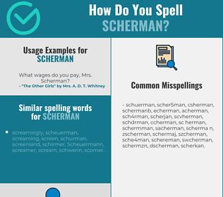 Correct spelling for Scherman