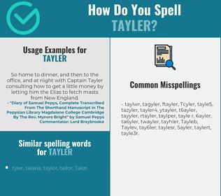 Correct spelling for Tayler