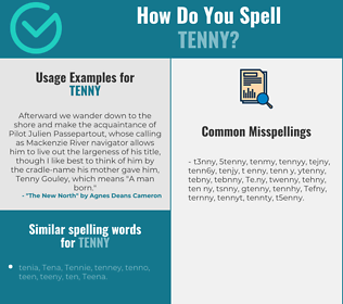 Correct spelling for Tenny