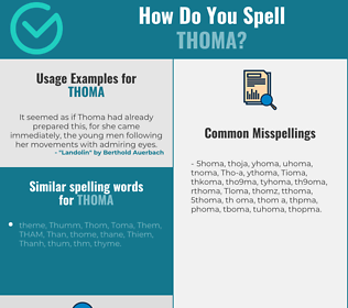 Correct spelling for Thoma