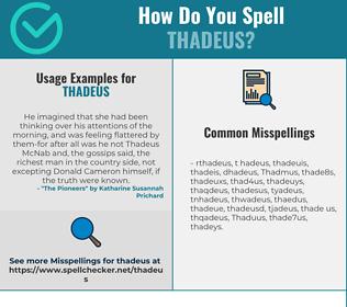 Correct spelling for Thadeus