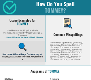 Correct spelling for Tommey