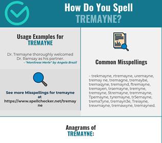 Correct spelling for Tremayne