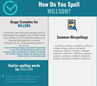 Correct spelling for Willson