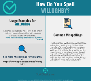 Correct spelling for Willughby