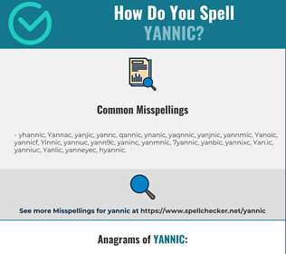 Correct spelling for Yannic