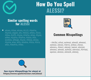 Correct spelling for Alessi