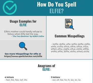 Correct spelling for Elfie