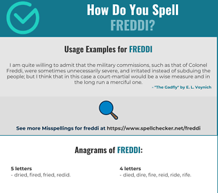 Correct spelling for Freddi