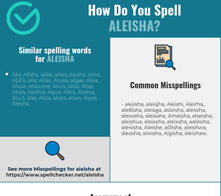 Correct spelling for Aleisha