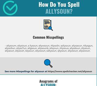 Correct spelling for Allysoun