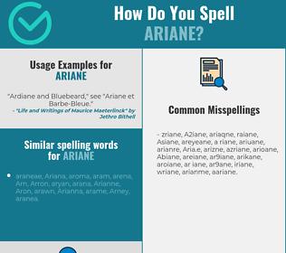 Correct spelling for Ariane
