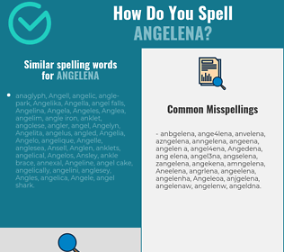 Correct spelling for Angelena