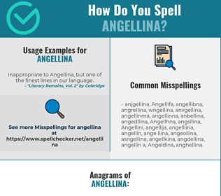 Correct spelling for Angellina