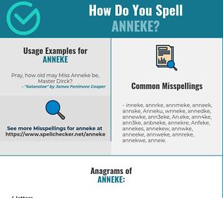 Correct spelling for Anneke