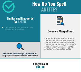 Correct spelling for Anette