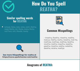 Correct spelling for Reatha