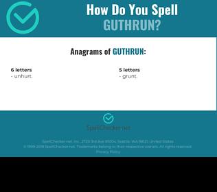 Correct spelling for Guthrun