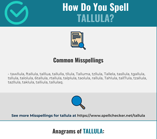 Correct spelling for Tallula