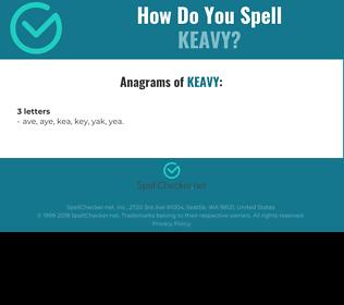 Correct spelling for Keavy