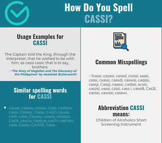 Correct spelling for Cassi