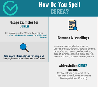 Correct spelling for Cerea