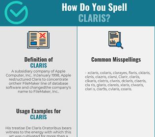 Correct spelling for Claris