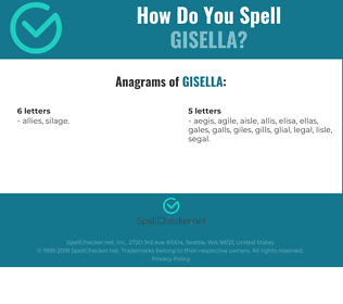Correct spelling for Gisella