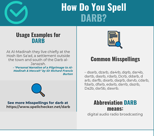Correct spelling for Darb