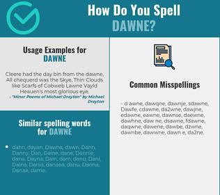 Correct spelling for Dawne