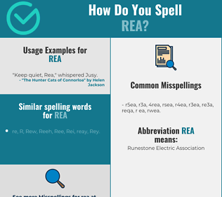Correct spelling for Rea