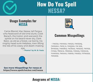 Correct spelling for Nessa