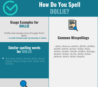 Correct spelling for Dollie