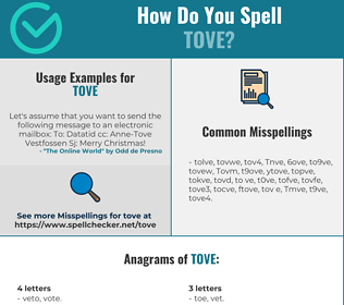 Correct spelling for Tove